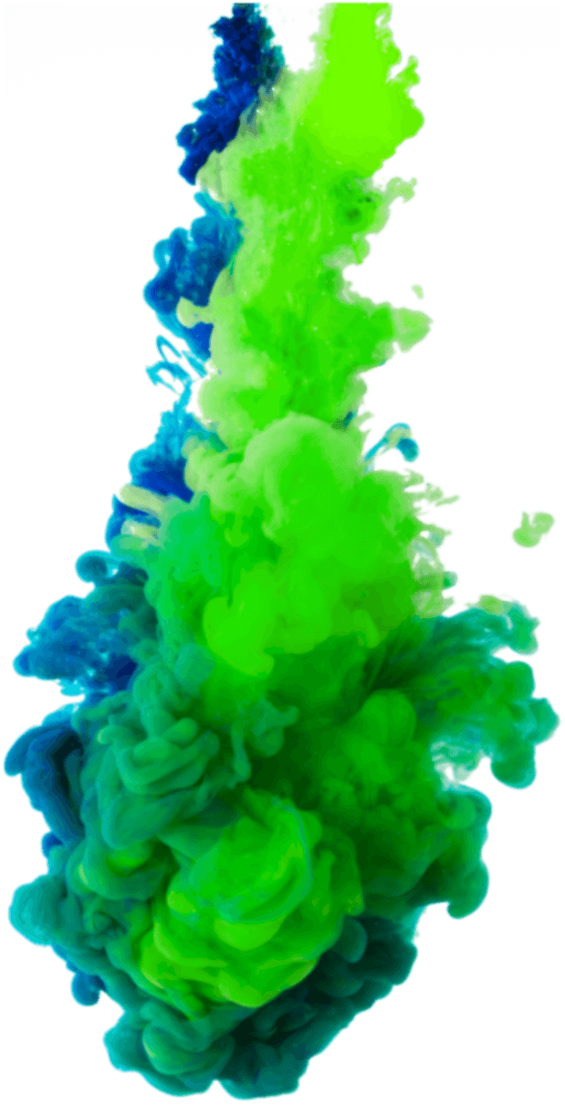 Green colour explosion