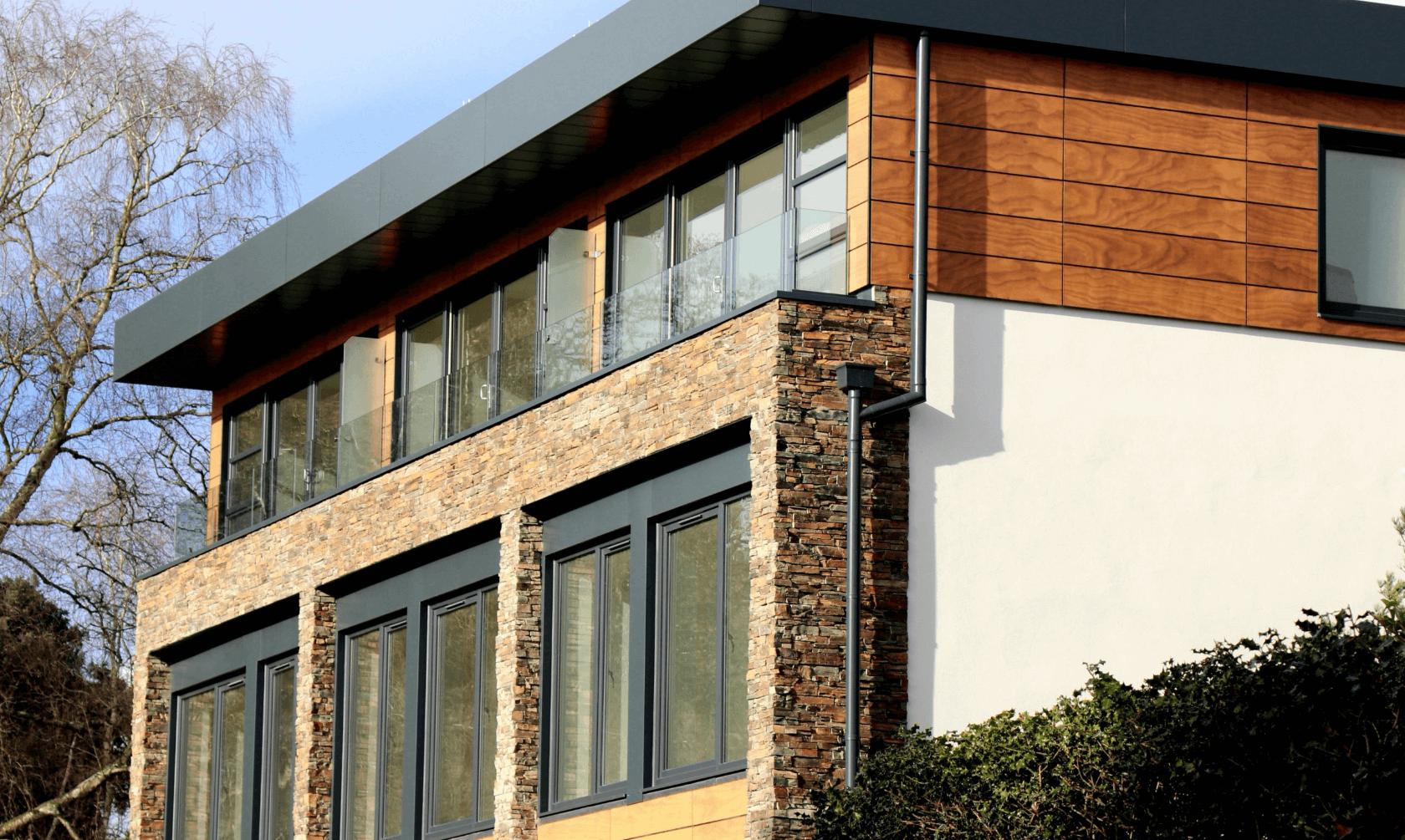 Brick and concrete architecture