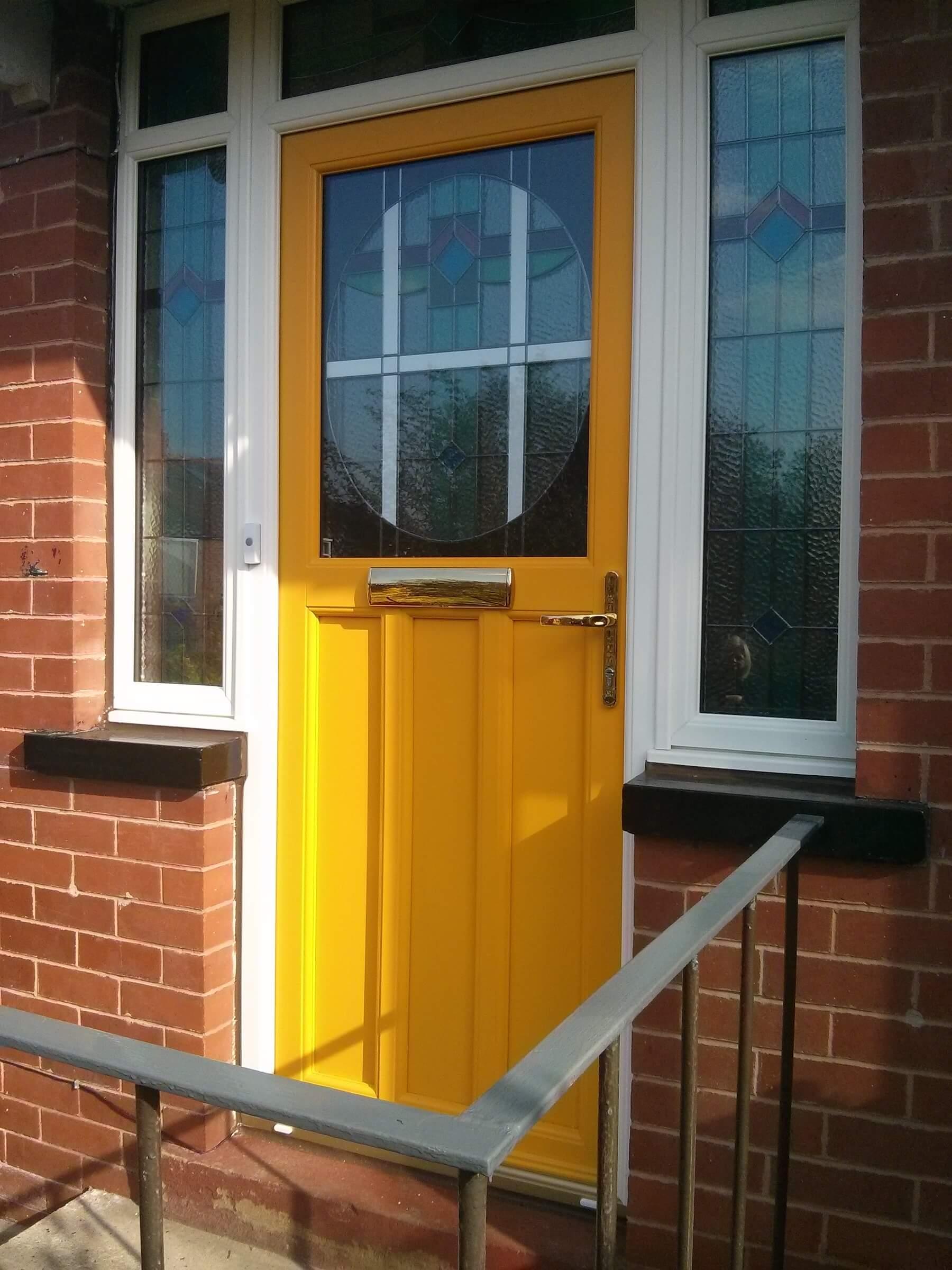 Bright yellow coated door