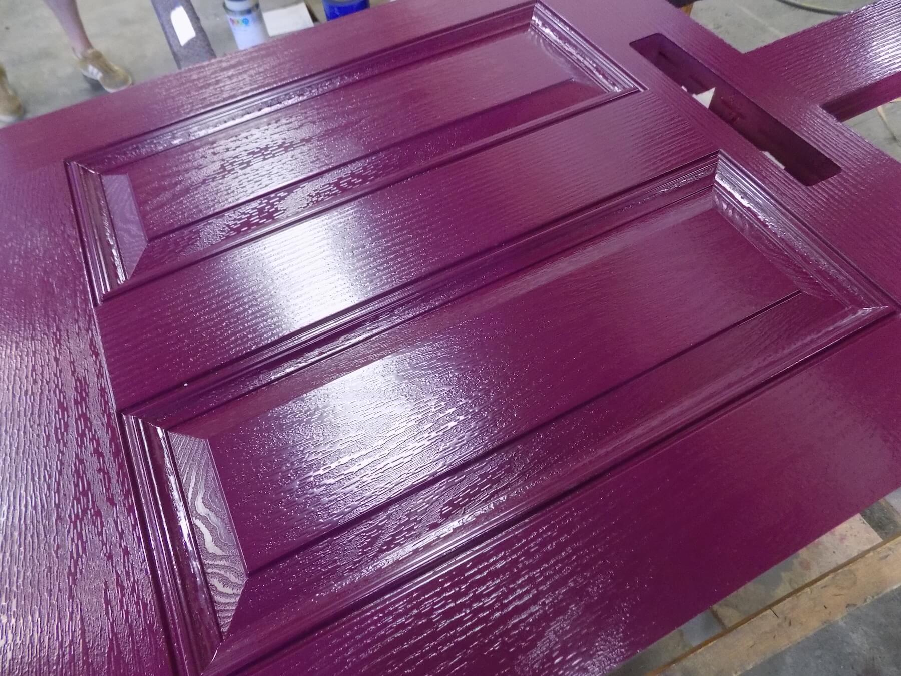 Fuchsia coated door