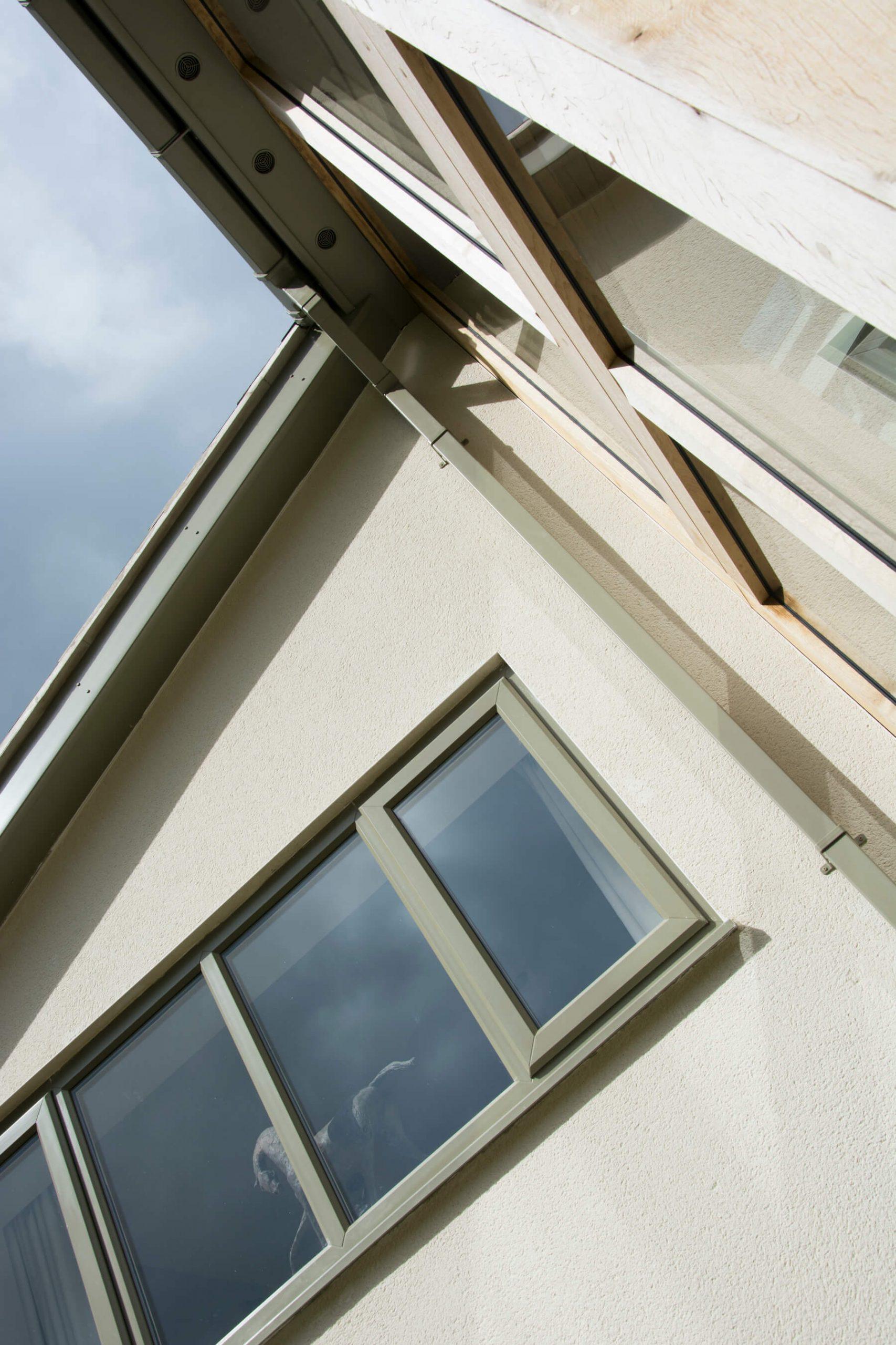 Matching colour window guttering roofline