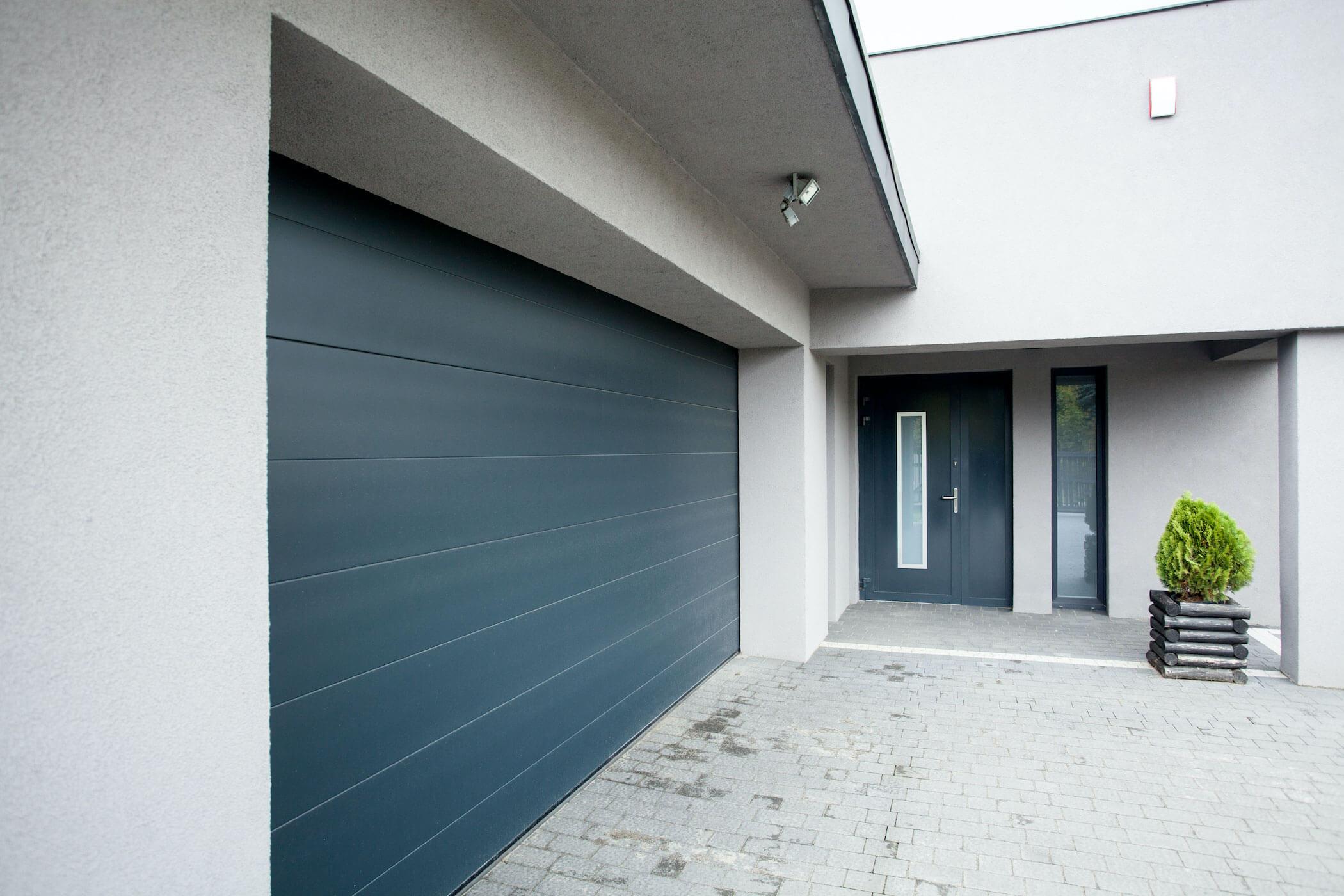 Modern aluminium garage