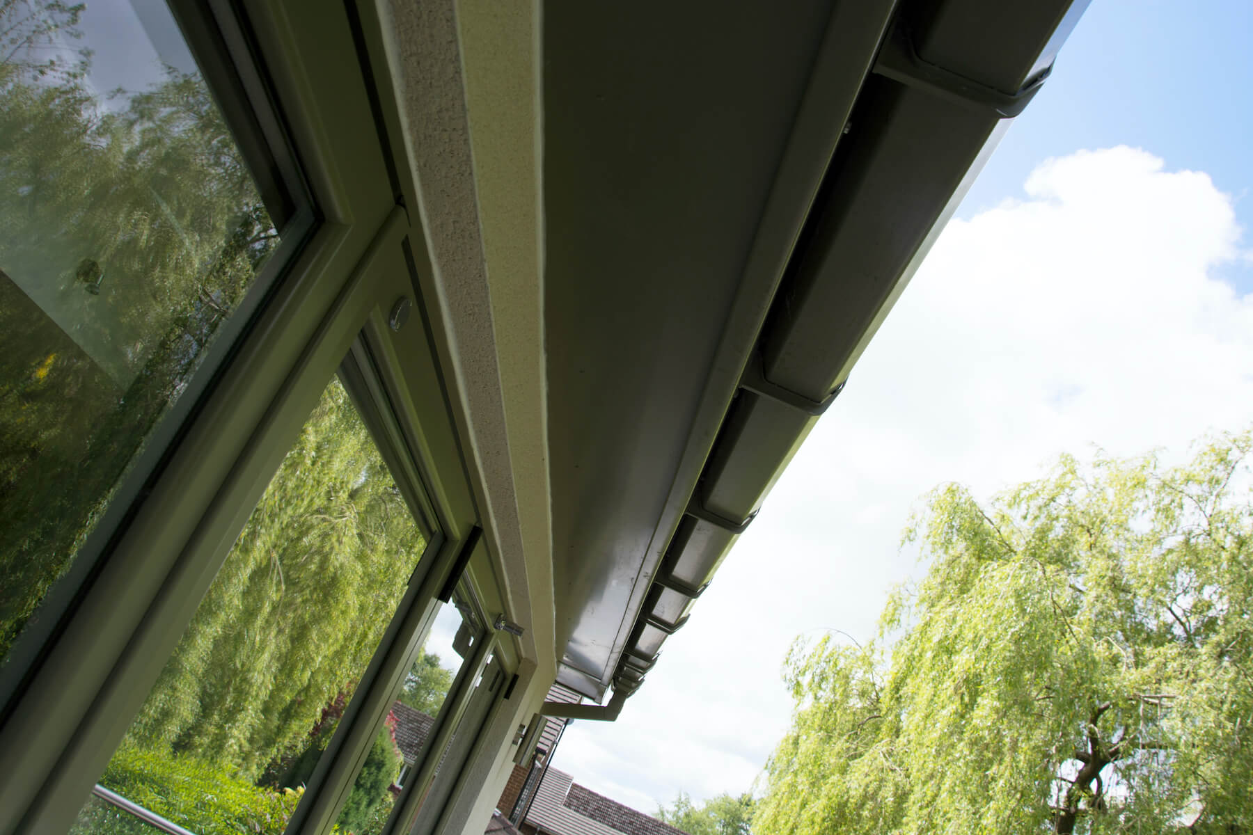 Low angle of soffits