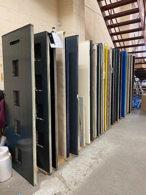 Wide selection of doors