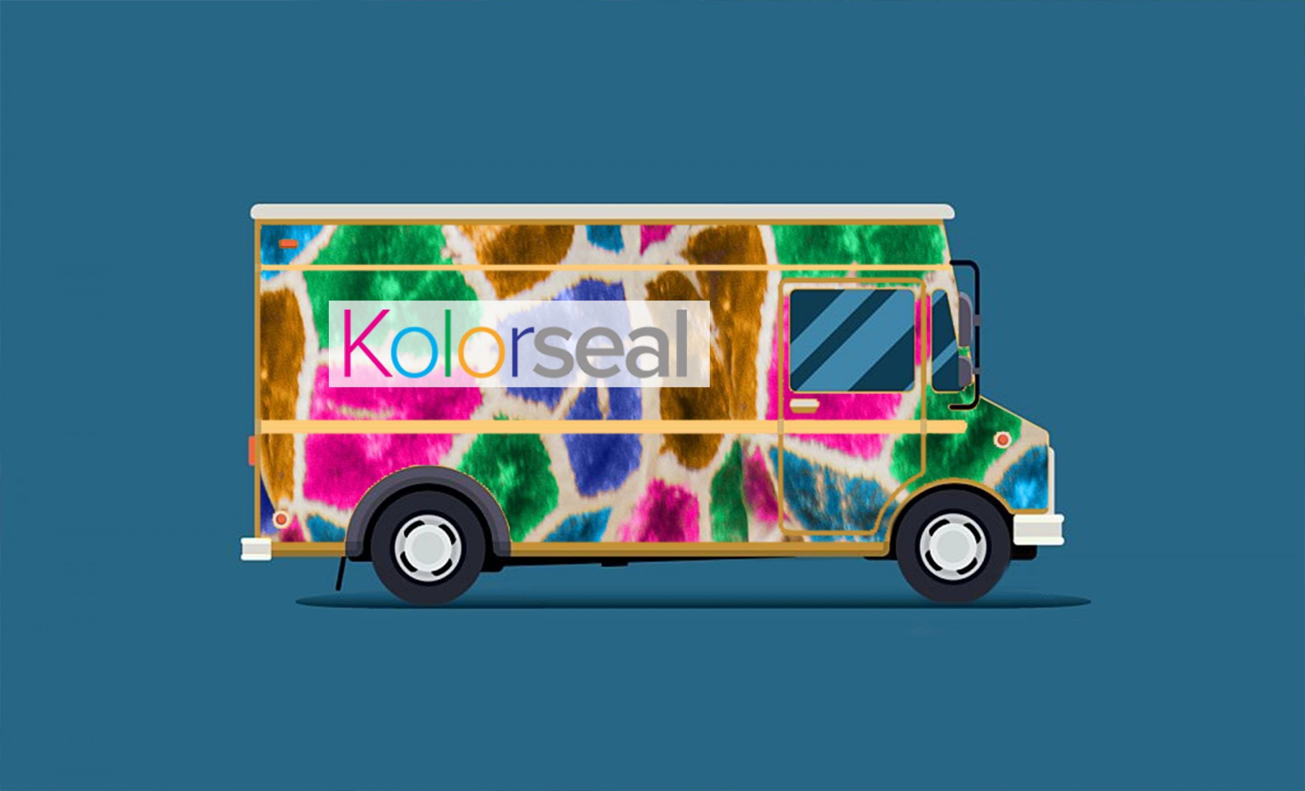 It's the Kolorseal van making a delivery.